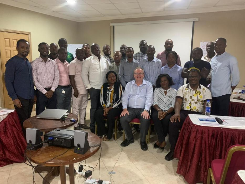 Group picture of participants with Tim Clark(tutor)  at the DPR Subsea Training held on 2nd - 5th Dec.,2019
